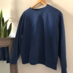 Vintage boxy boyfriend fit blue sweatshirt top